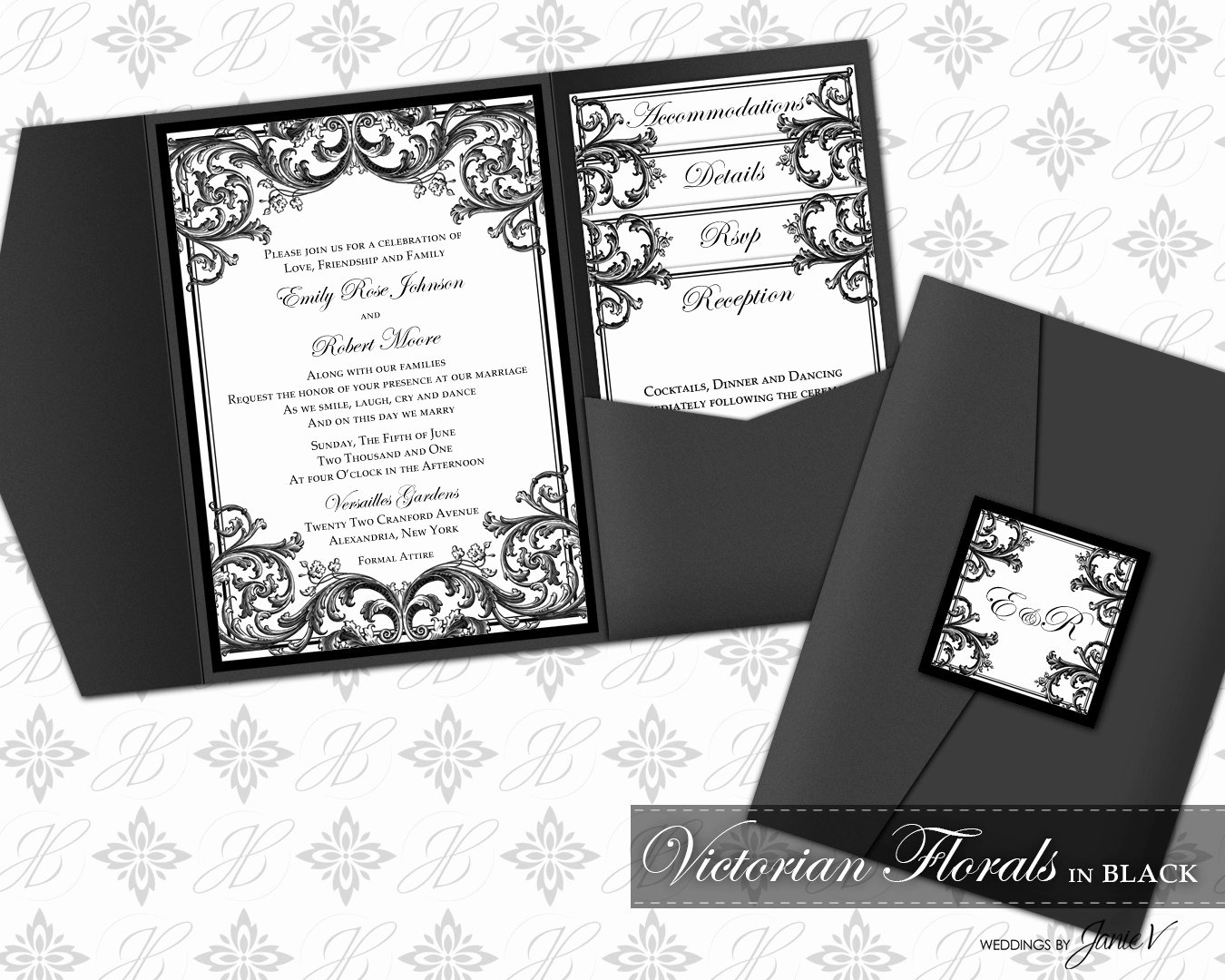 Diy Pocket Invitations Template Elegant Diy Printable Wedding Pocket Invitation Template Printable