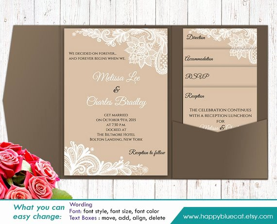 Diy Pocket Invitations Template Inspirational Diy Printable Pocket Wedding Invitation Template Set Instant