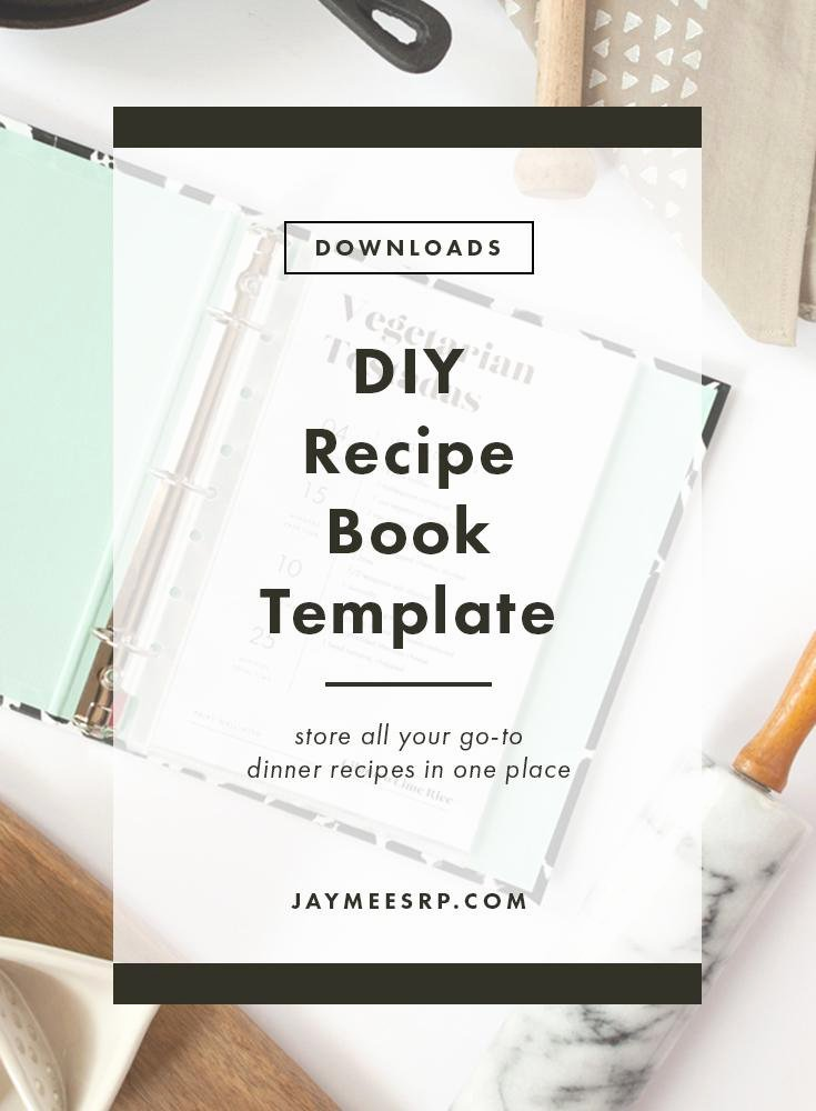 Diy Recipe Book Template Awesome Simple Diy Recipe Book – Jaymee Srp