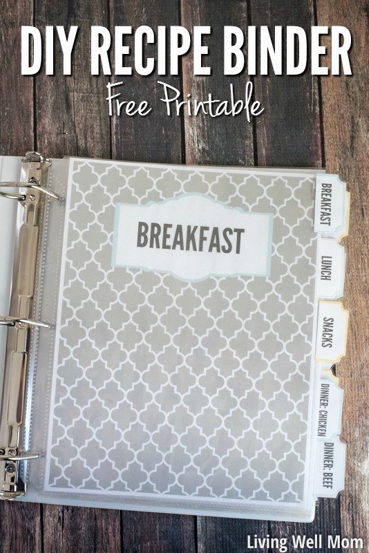 Diy Recipe Book Template Lovely Diy Recipe Binder with Free Printable Downloads