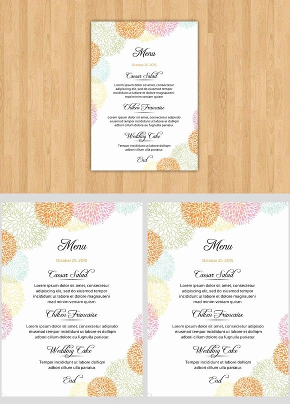 Diy Wedding Menu Template Awesome 1000 Ideas About Wedding Menu Template On Pinterest