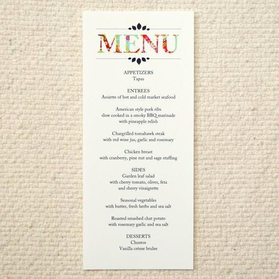 Diy Wedding Menu Template Inspirational Wedding Stationery Menu Rustic Woodland by Amyadamsprintables