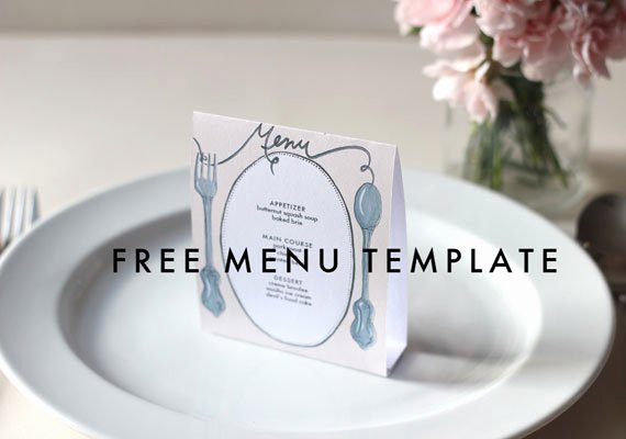 Diy Wedding Menu Template Unique Free Downloadable Diy Wedding Menus
