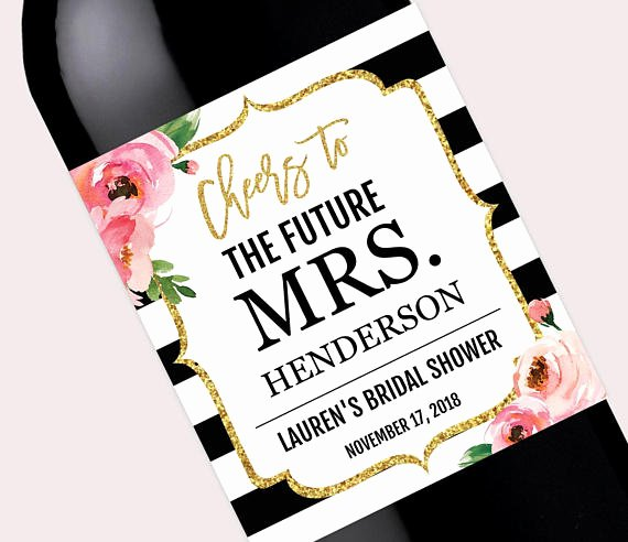 Diy Wine Labels Template Awesome Bridal Shower Wine Bottle Labels Pdf Personalized Kate