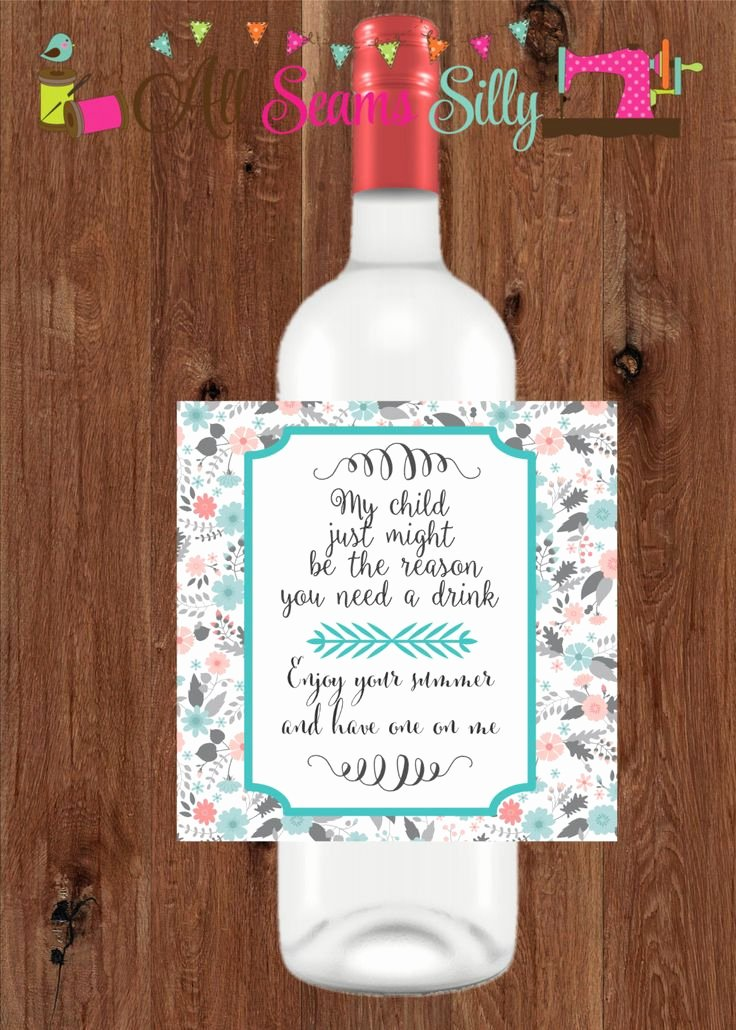 Diy Wine Labels Template Awesome Wine Bottle Label T Diy Printable by