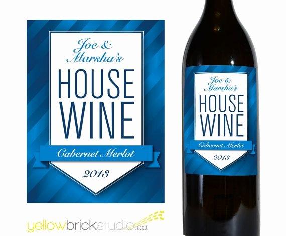 Diy Wine Labels Template Best Of Custom Wine Bottle Label House Wine Diy Printable File