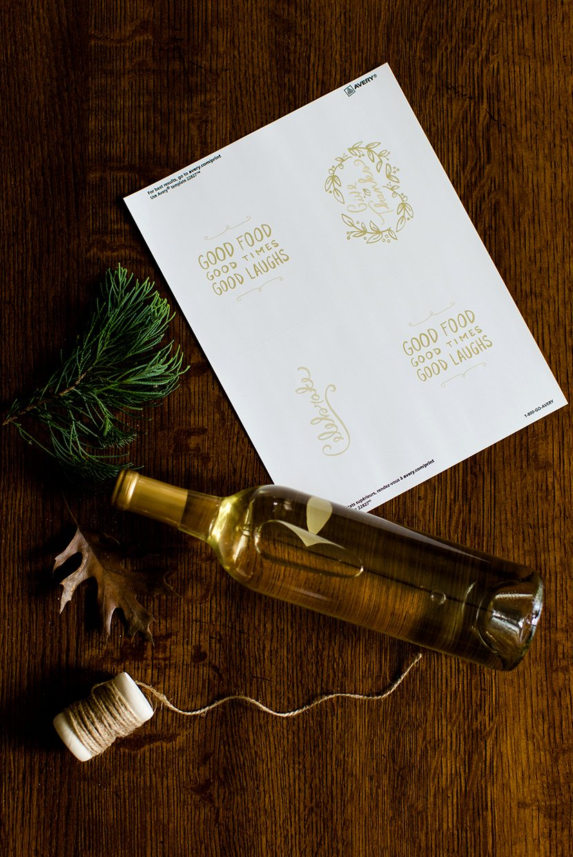 Diy Wine Labels Template Elegant Diy Holiday Wine Labels