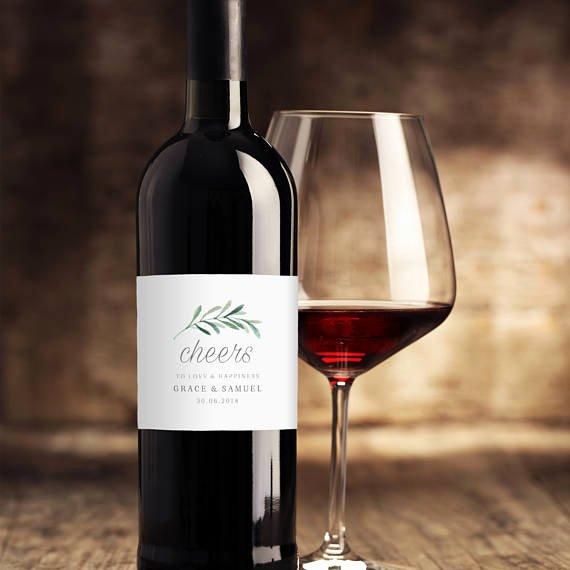 Diy Wine Labels Template Fresh Wedding Wine Label Template Printable Wine Labels Diy Wine