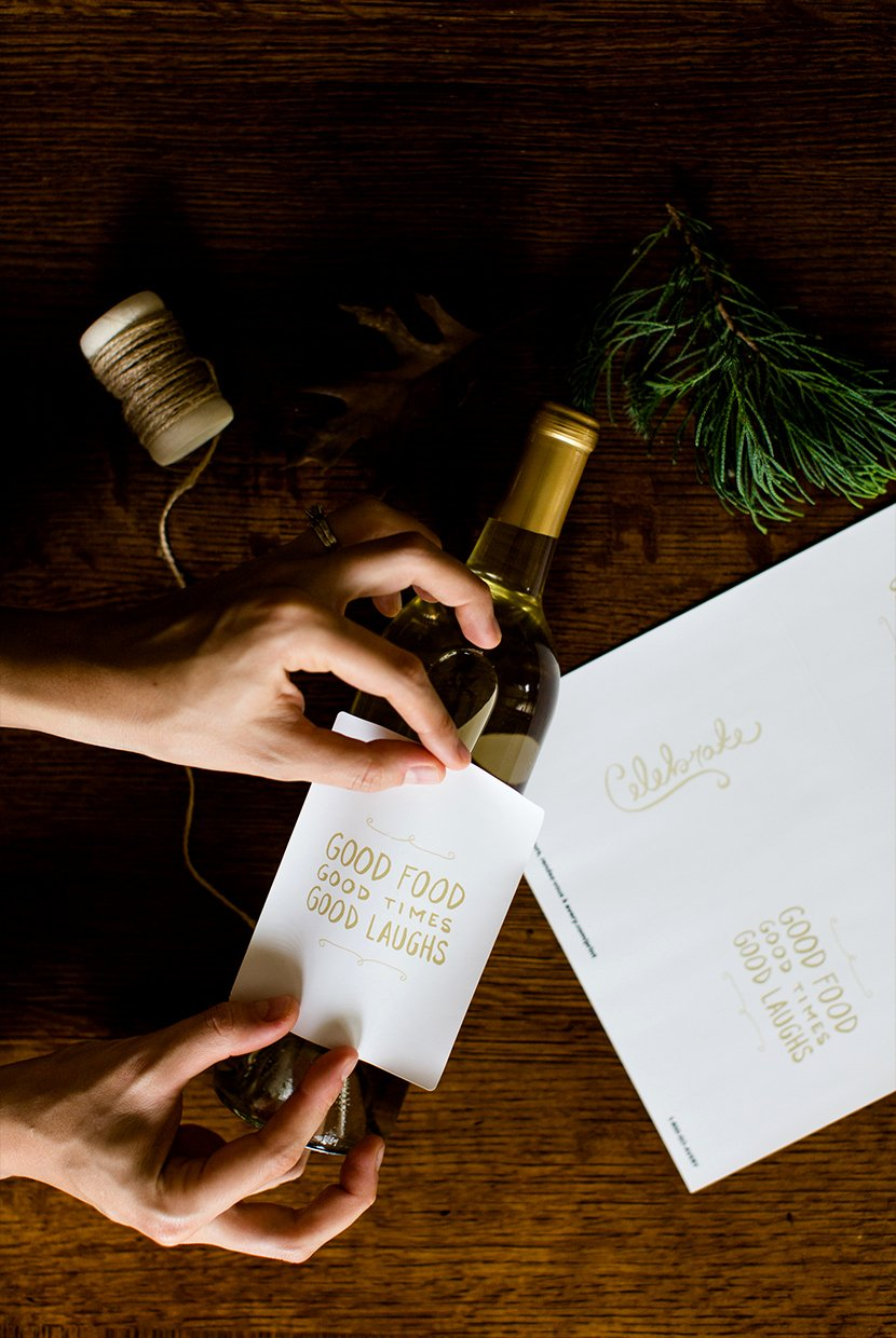 Diy Wine Labels Template Inspirational Diy Holiday Wine Labels