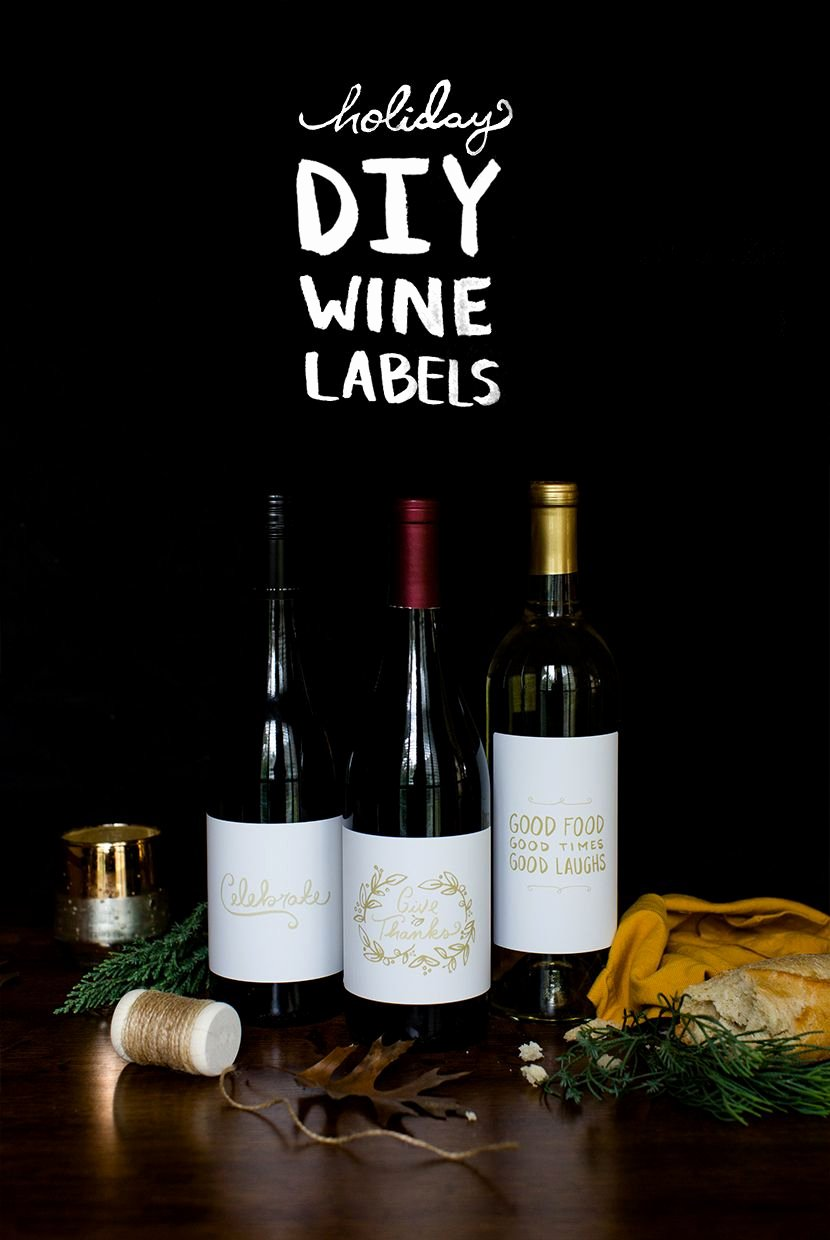 Diy Wine Labels Template Luxury Diy Holiday Wine Labels with Free Downloadable Graphics