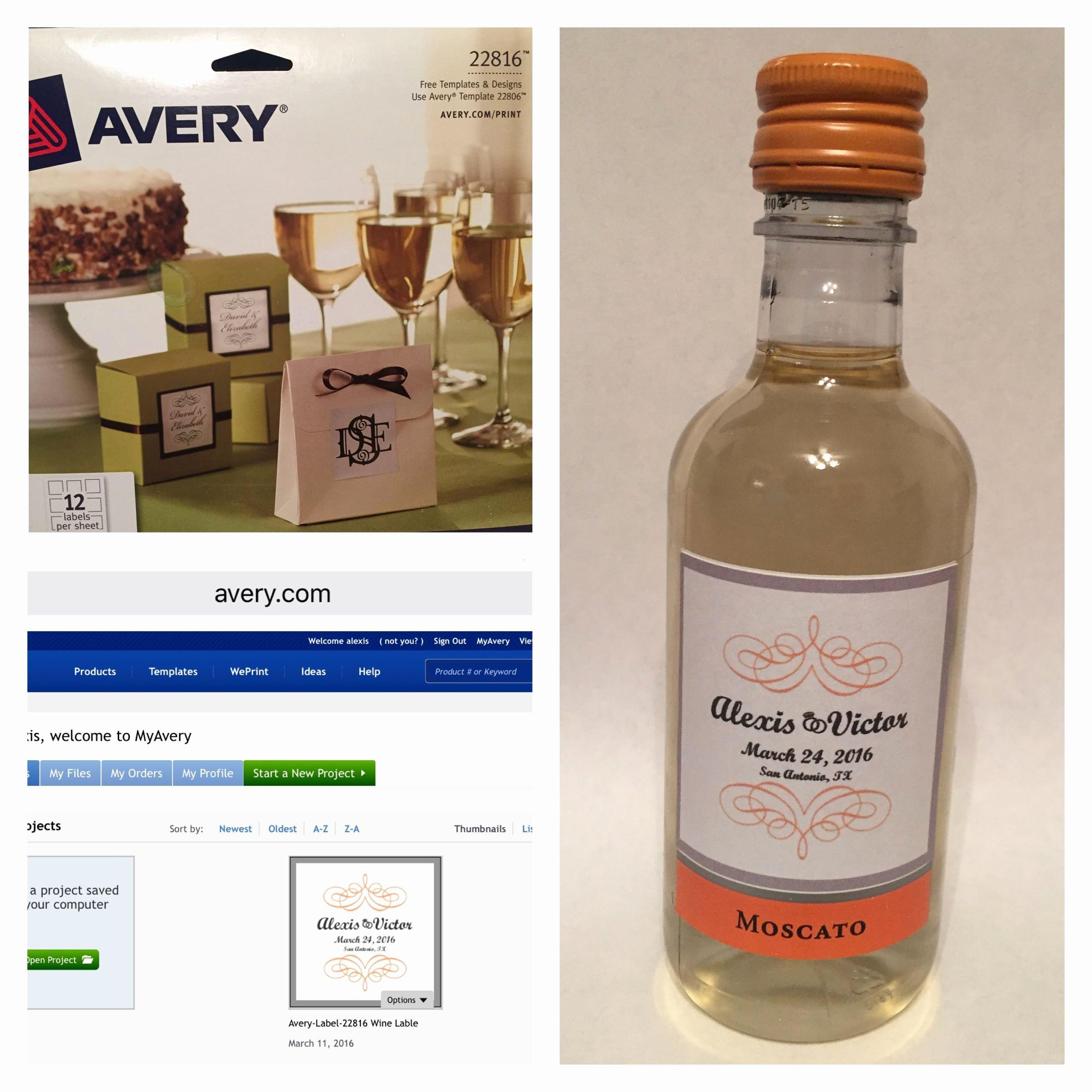Diy Wine Labels Template Unique Diy Wedding Favors Sutter Home Mini Wine Bottles All You