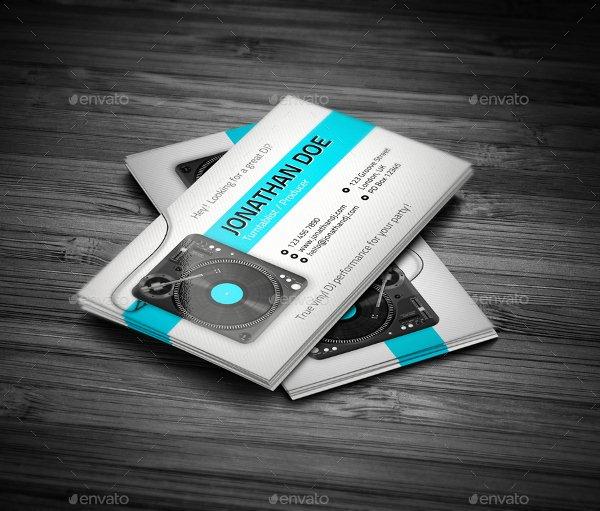 Dj Business Card Template Beautiful 19 Dj Business Cards Free & Premium Psd Ai format Download