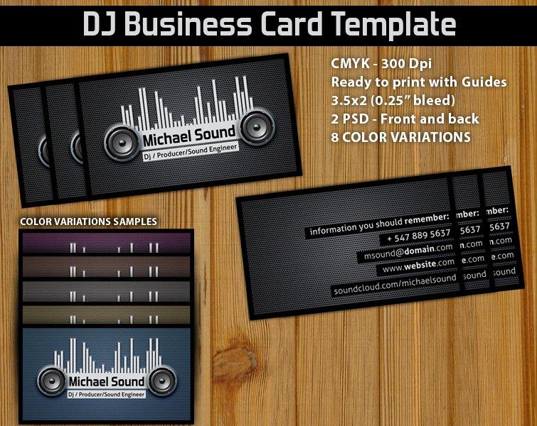 Dj Business Card Template Best Of 11 Dj Business Card Psd Dj Business Cards