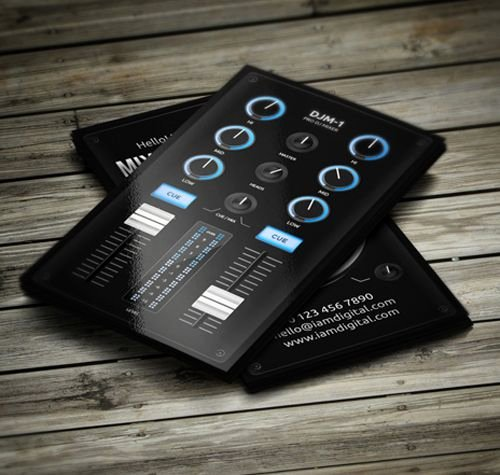 Dj Business Card Template Fresh 25 Best Ideas About Dj Business Cards On Pinterest