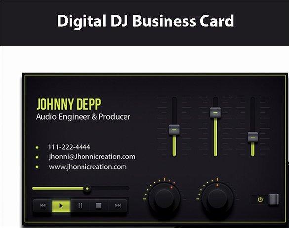 Dj Business Card Template Fresh 27 Dj Business Cards Templates Shop Ms Word