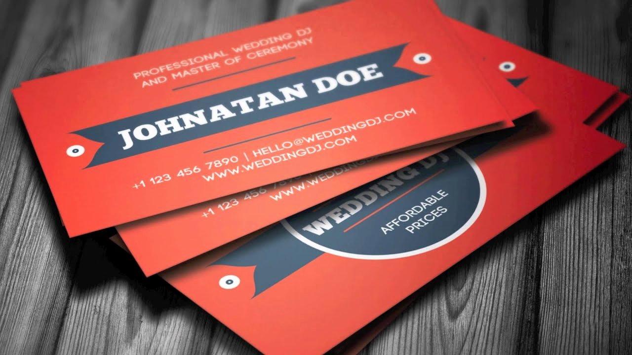 Dj Business Card Template Fresh Wedding Dj Business Card Template