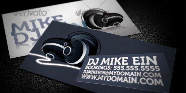 Dj Business Card Template Inspirational 50 Dj Music Business Cards & Designs