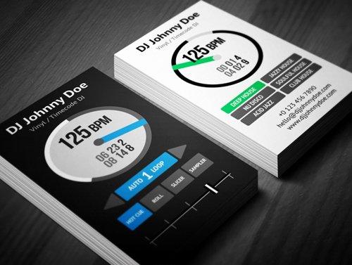 Dj Business Card Template Inspirational Amazing Dj Business Cards Psd Templates Design