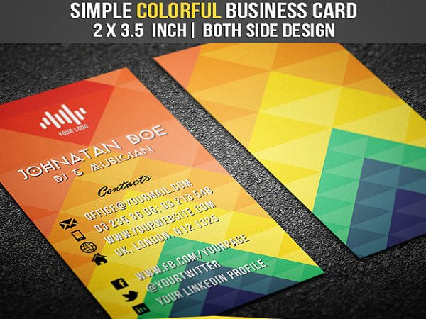 Dj Business Card Template New 19 Dj Business Cards Free Psd Ai Vector Eps format