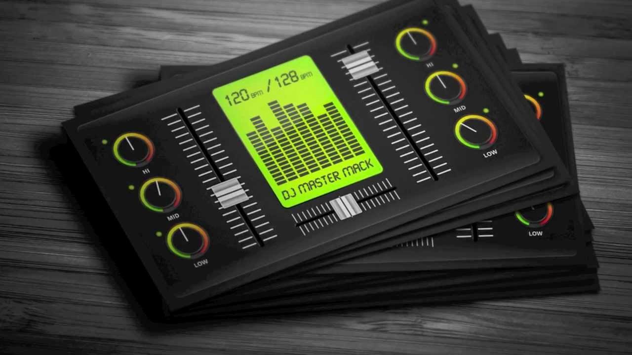 Dj Business Card Template New Creative Digital Dj Business Card Template