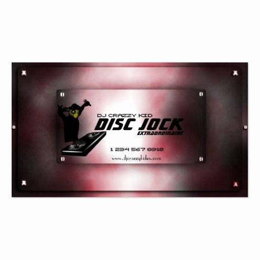 Dj Business Card Template New Disc Jock Dj Business Card Template