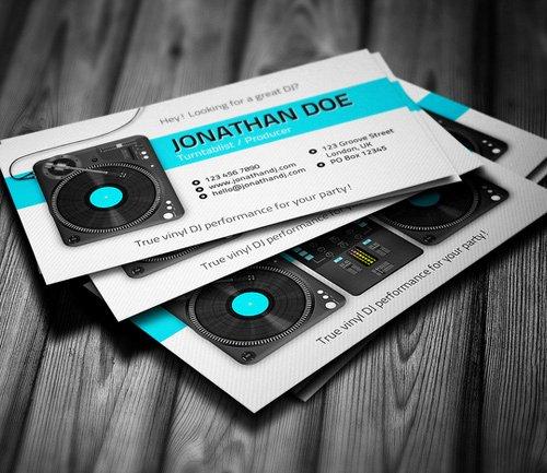 Dj Business Card Template Unique Amazing Dj Business Cards Psd Templates Design