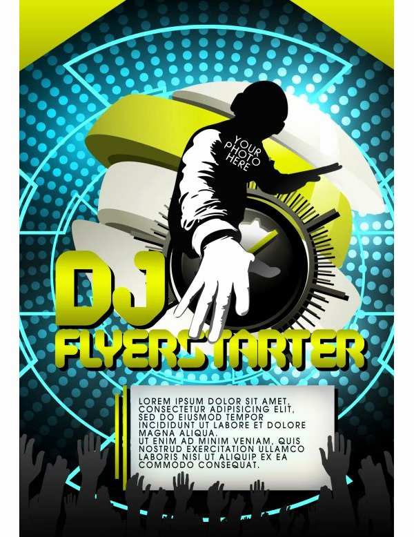 Dj Flyer Template Free Elegant 28 Stylish Psd Dj Flyer Template Designs