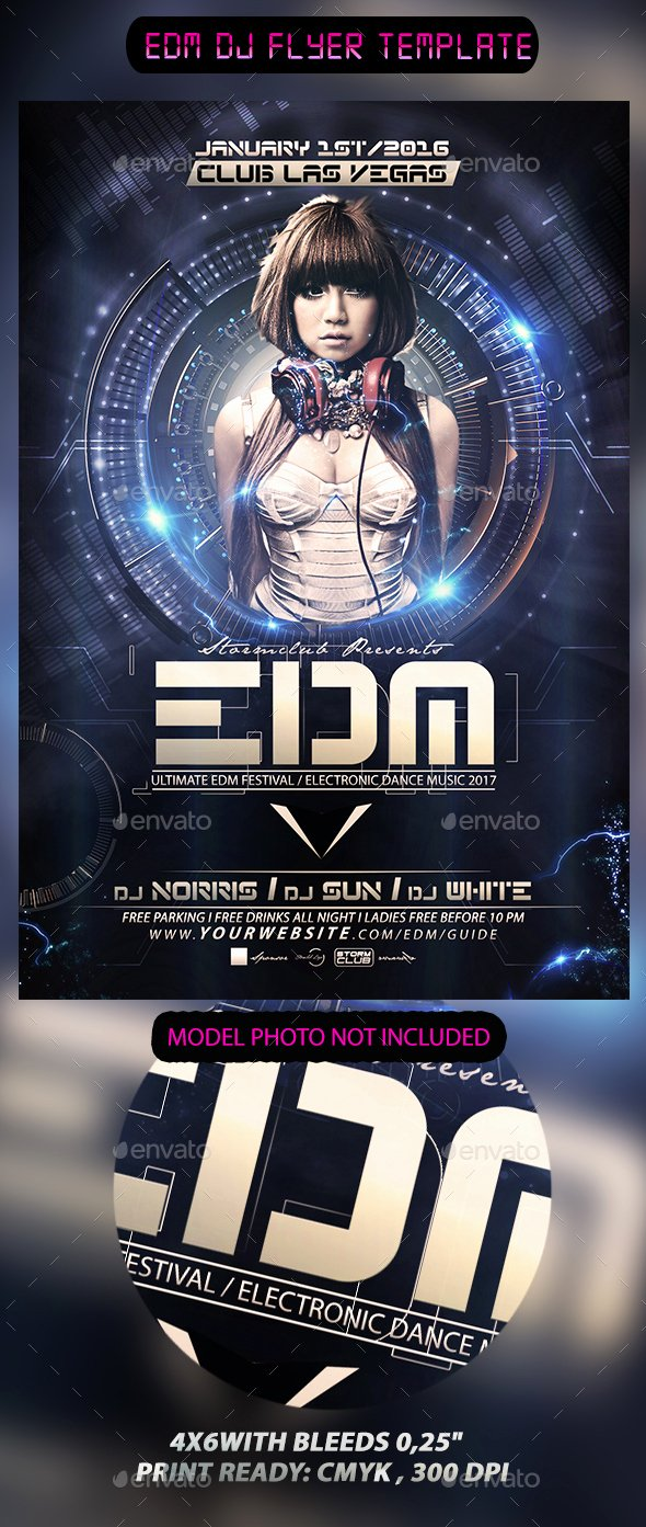 Dj Flyer Template Free Inspirational Edm Dj Flyer Template by Stormclub