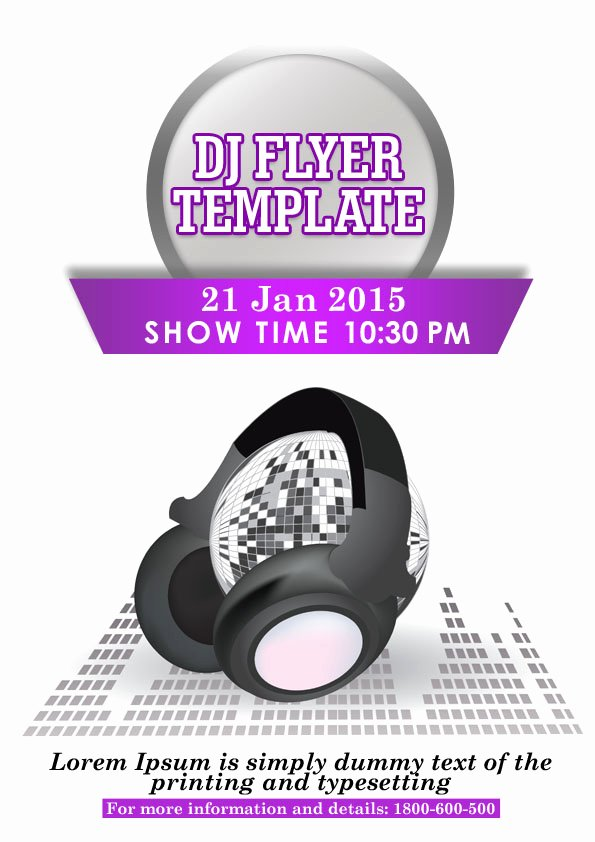 Dj Flyer Template Free New 32 Spectacular Free Dj Flyer Templates Psd Doc Demplates