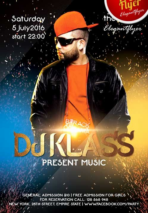 Dj Flyer Template Free New Free Special Guest Dj Party Flyer Template Psd Download