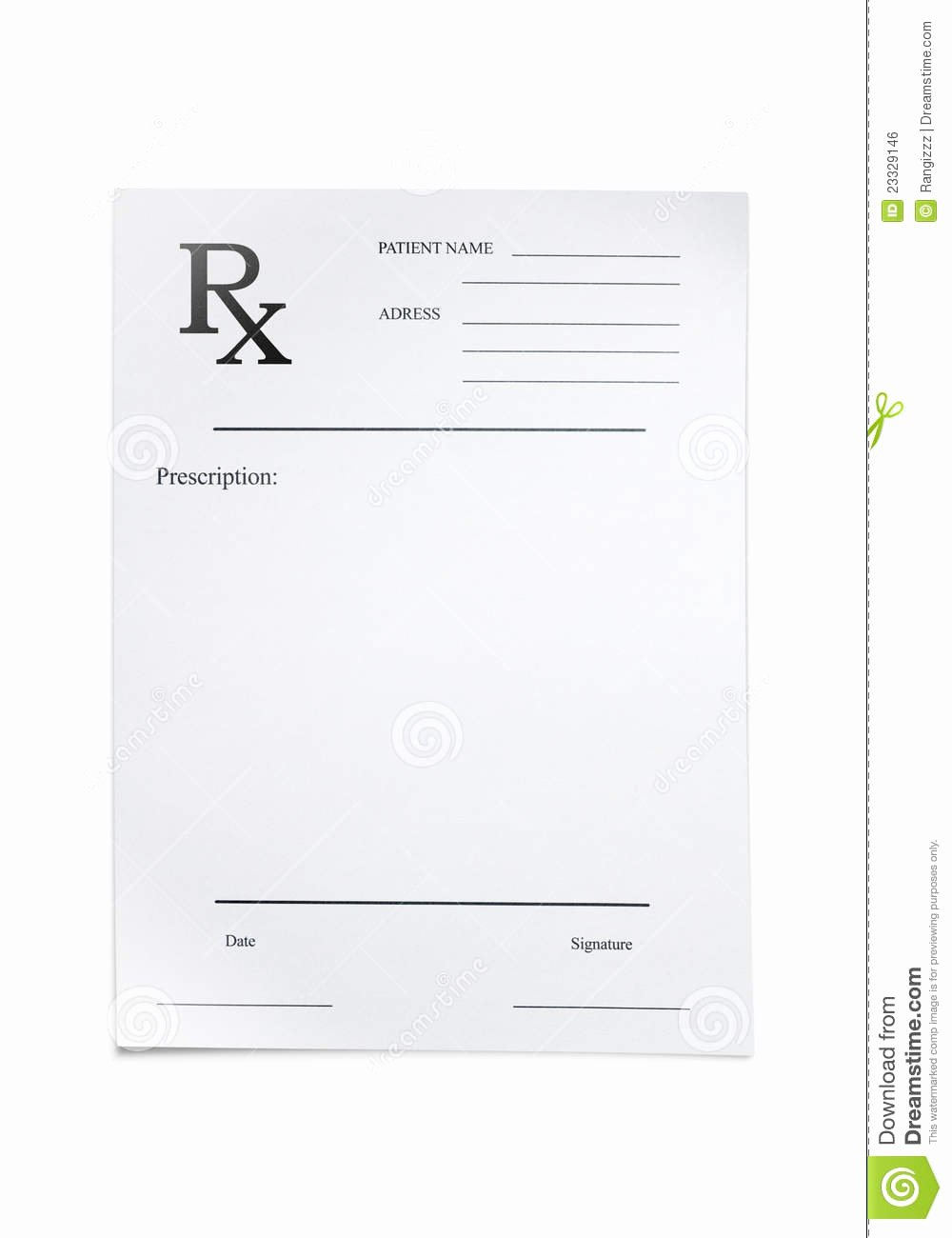 Doctor Prescription Pad Template Elegant Doctors Prescription Stock Photo Image Of Cost Blank