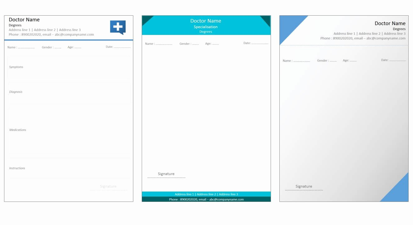 Doctor Prescription Pad Template Elegant Prescription Template Free Download Freemium Templates