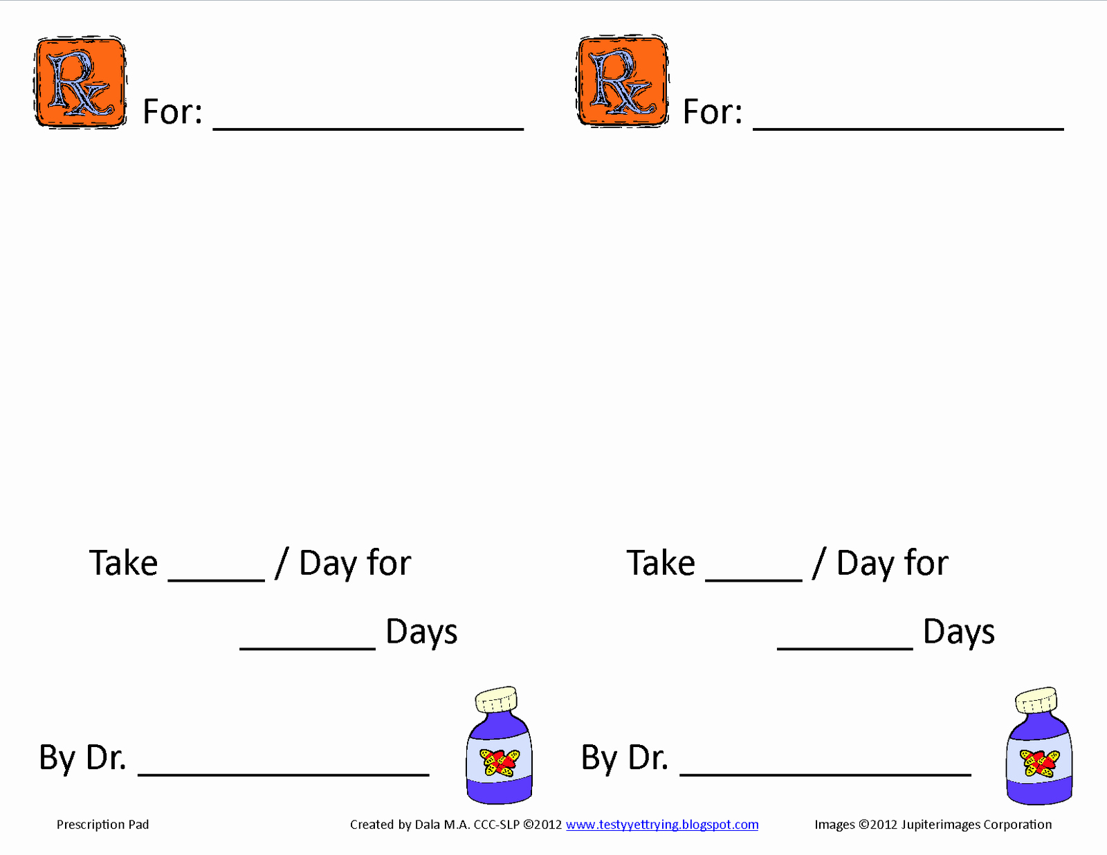Doctor Prescription Pad Template Inspirational Testy yet Trying Homemade Doctor Kit Accessories Play