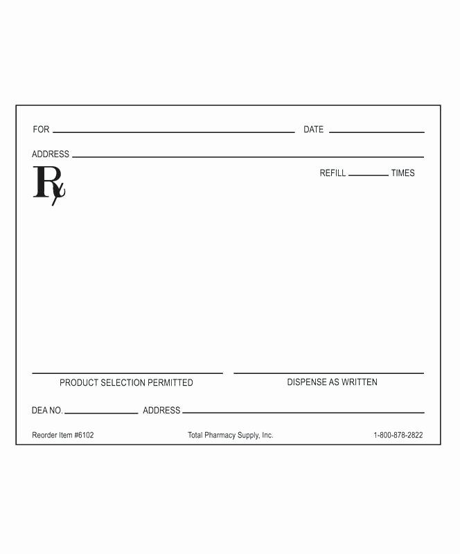Doctor Prescription Pad Template Luxury Prescription Pad Template Free Printable Timeline