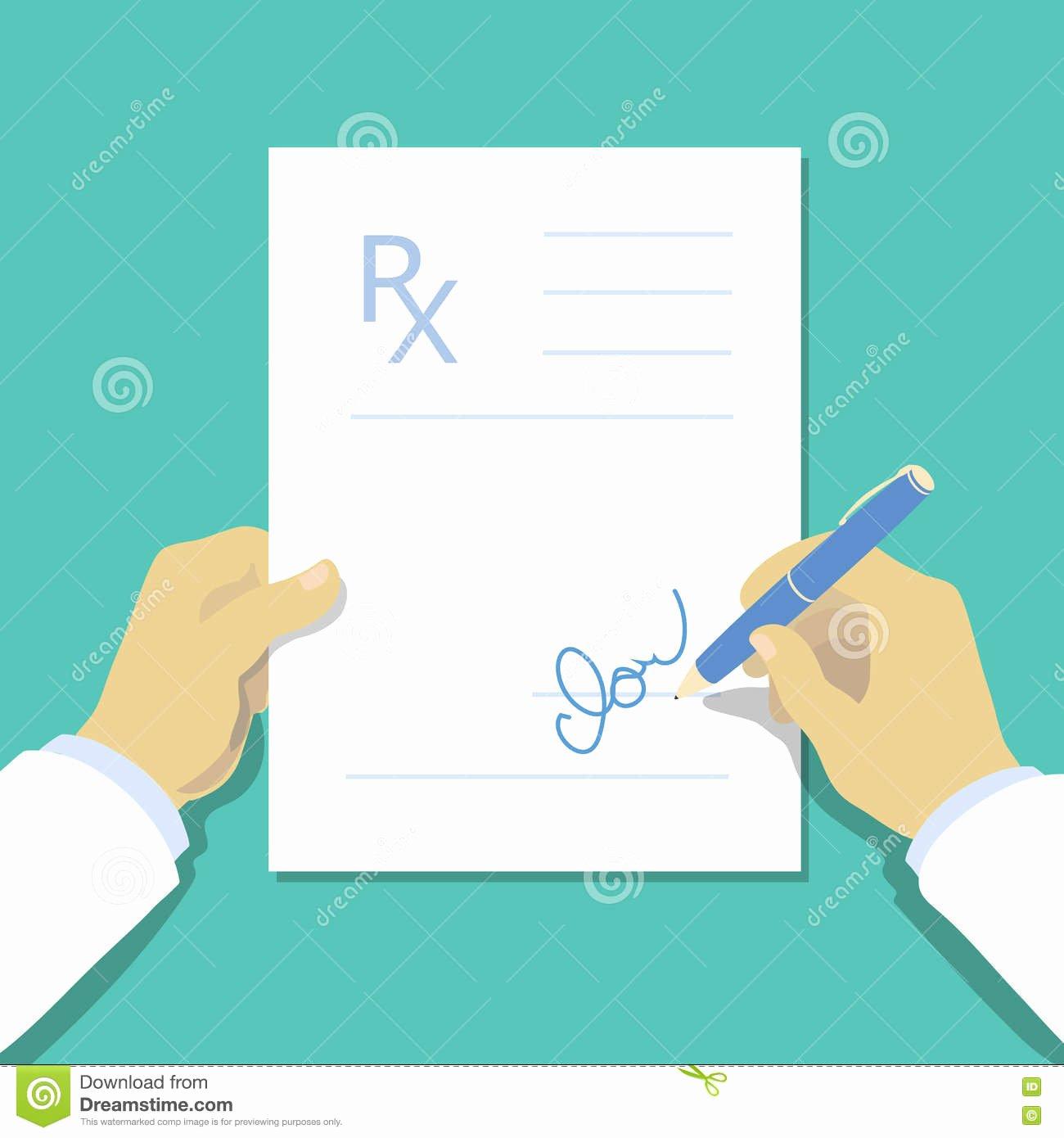 Doctor Prescription Pad Template Unique Medical Prescription Pad Flat Design Style Rx form Stock