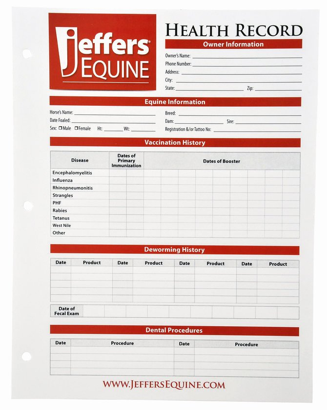Dog Health Record Template Awesome Horse Health Records