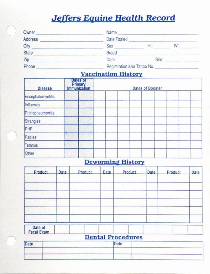 Dog Health Record Template Lovely Horse Health Records Each Horse Stuff