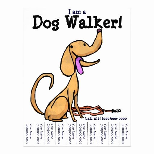Dog Walking Flyer Template Inspirational I Am A Dog Walker Flyer