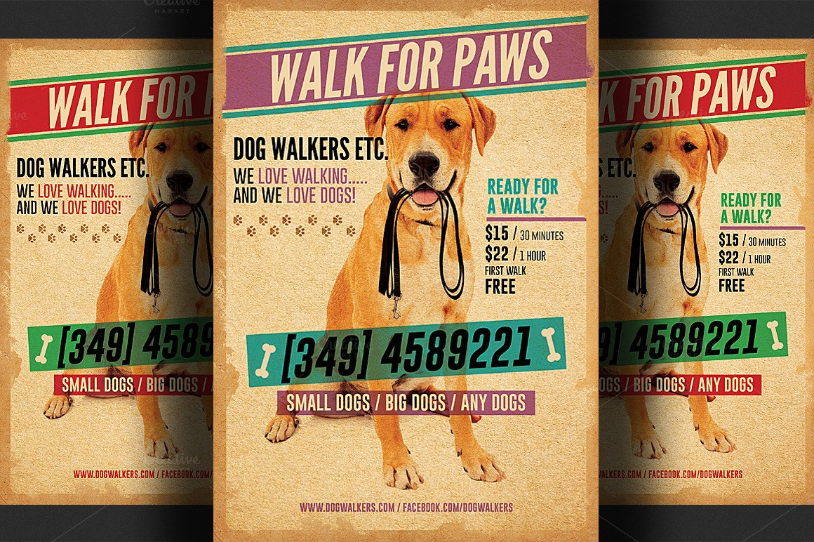 Dog Walking Flyer Template Lovely Dog Walkers Flyer Template 2 Flyer Templates On Creative