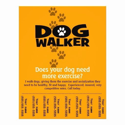 Dog Walking Flyer Template Luxury Dog Walking Business Tear Sheet Flyer Template