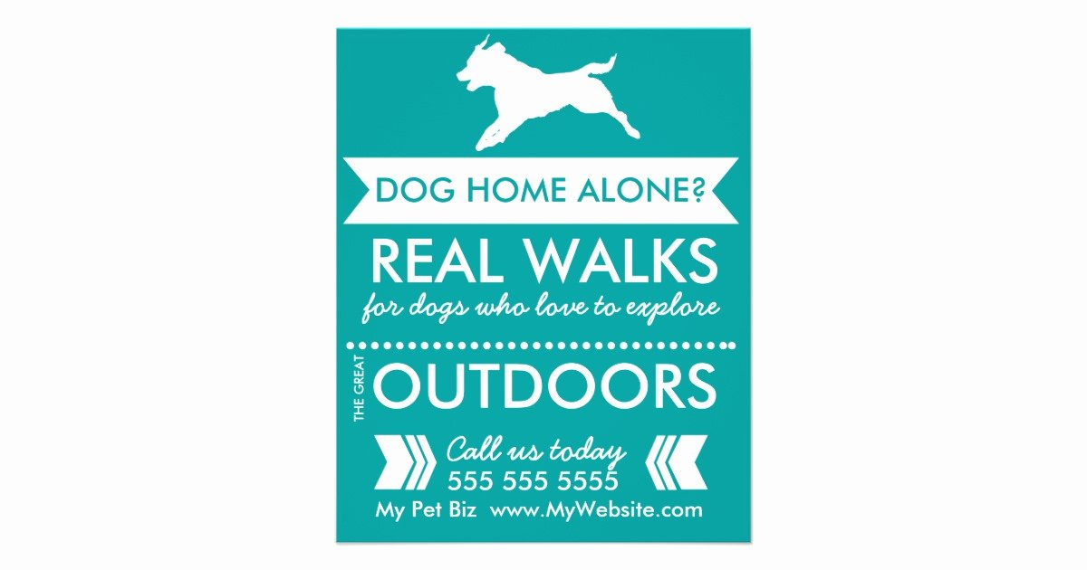 Dog Walking Flyer Template New Dog Walker Flyer Personalizable