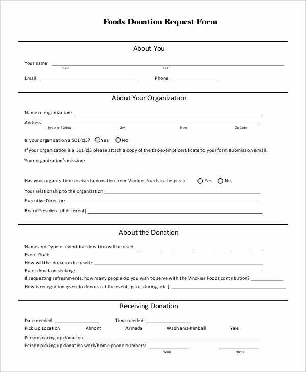 Donation form Template Pdf Beautiful Donation Request form