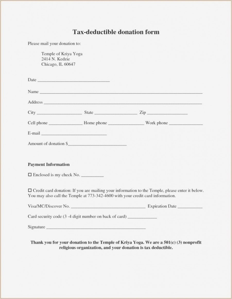 Donation form Template Pdf Beautiful Salvation Army Tax Receipt