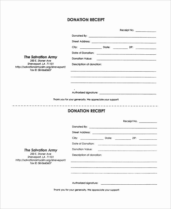 Donation form Template Pdf Fresh 10 Donation Receipt Samples