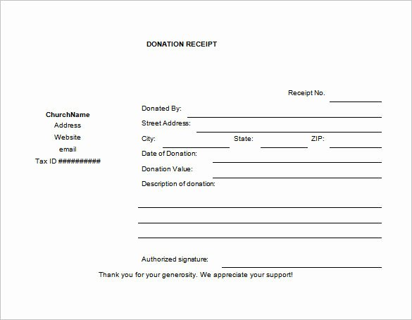 Donation form Template Pdf Inspirational Church Donation Receipt Template Pdf Templates Resume