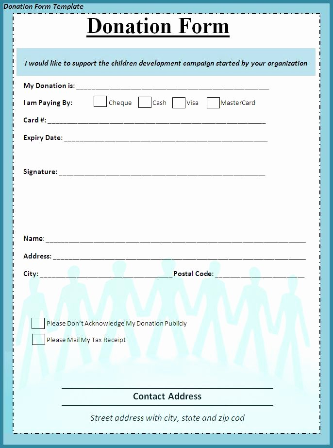 Donation form Template Pdf New 6 Donation form Templates Excel Pdf formats