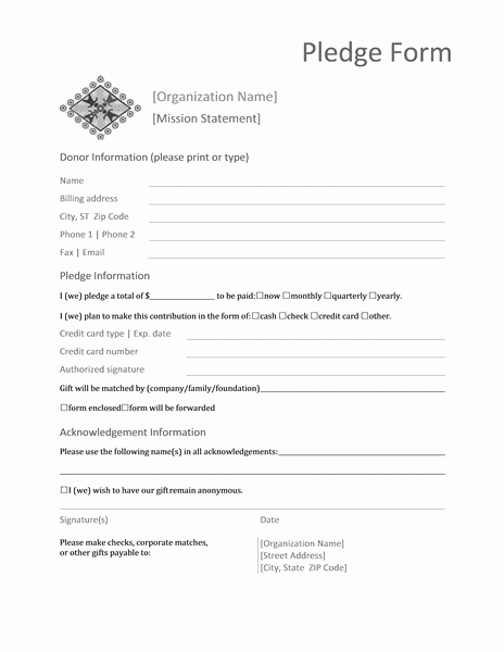 Donation form Template Word Awesome Donation Pledge form Templates Microsoft Word Reports form