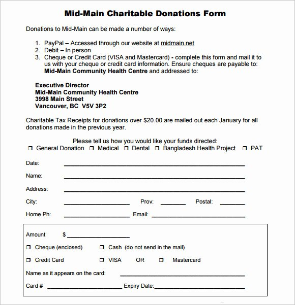 Donation form Template Word Awesome Sample Donation Sheet 9 Documents In Pdf Word