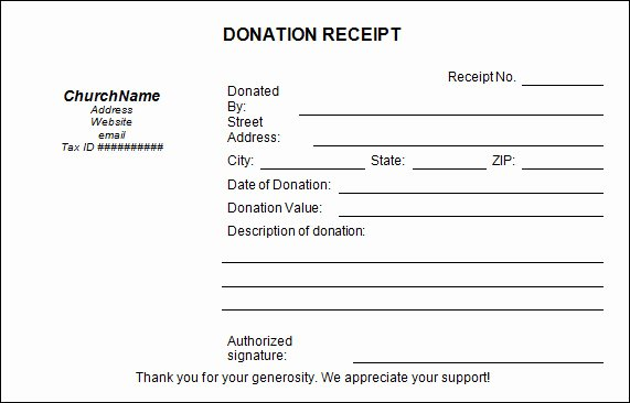 Donation form Template Word Best Of 23 Donation Receipt Templates – Pdf Word Excel Pages
