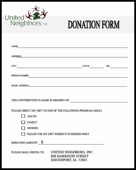 Donation form Template Word Inspirational 36 Free Donation form Templates In Word Excel Pdf